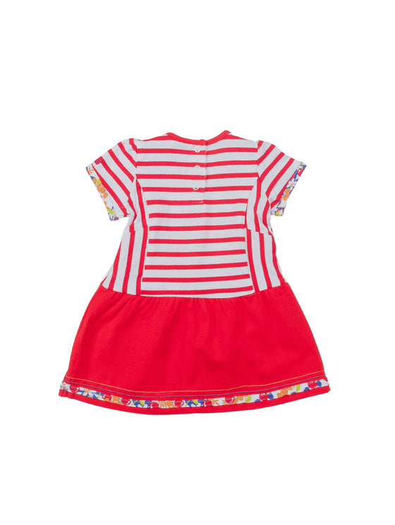 Girls Striped Above Knee Dress