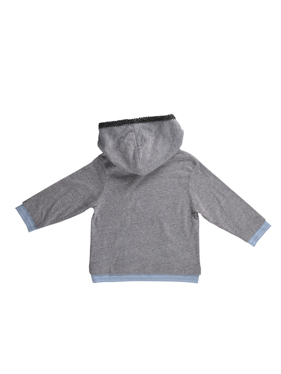 Boys long-sleeve hooded top