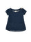 Girls 2pcs Denim knit jersey tunic with patch pockets with all over print legging