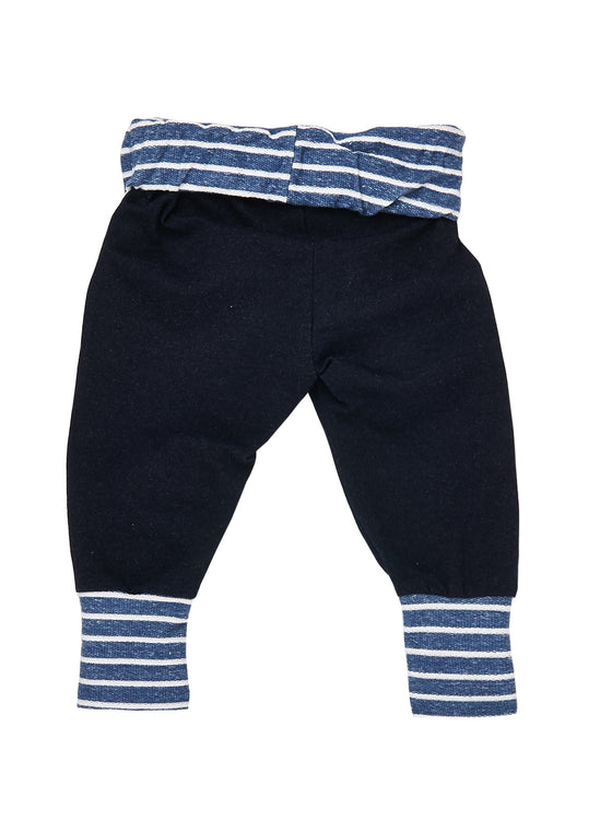 Boys 2pcs short sleeve roll up cuff pocket T with jogger pant