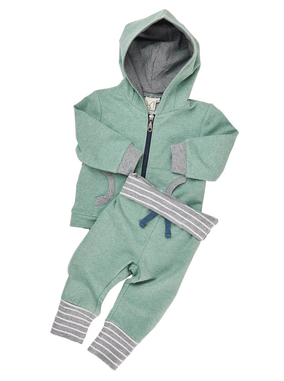 Boys 2pcs french terry long sleeve hoodie with jogger pant
