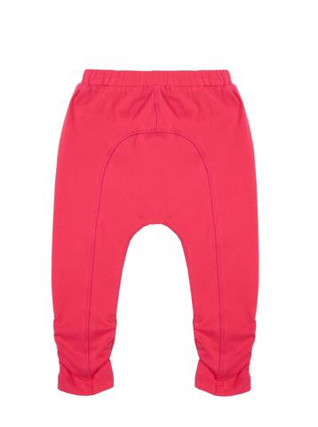 Girls Watermelon jersey 7/8 legging with shirring & bow detail