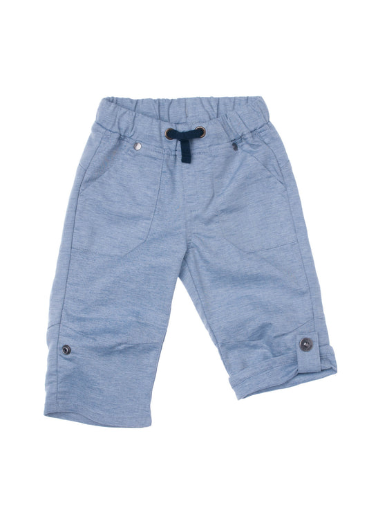 Baby Boys chambray roll up pants