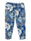 Girls All over print Grey Floral jersey 7/8 legging with front bow