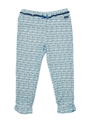 Girls All over print Midnight jersey 7/8 legging with front bow