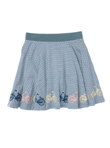 Girls All over print Moss jersey full circle skort with border print