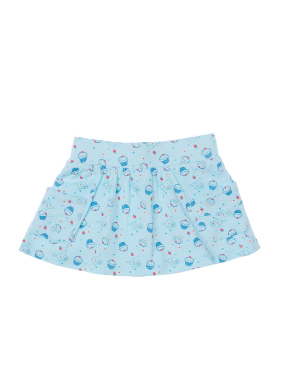Baby Girls skirt with built in jersey short