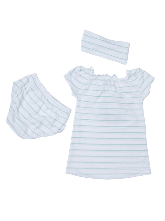 Baby Girls Stripe jersey above knee dress