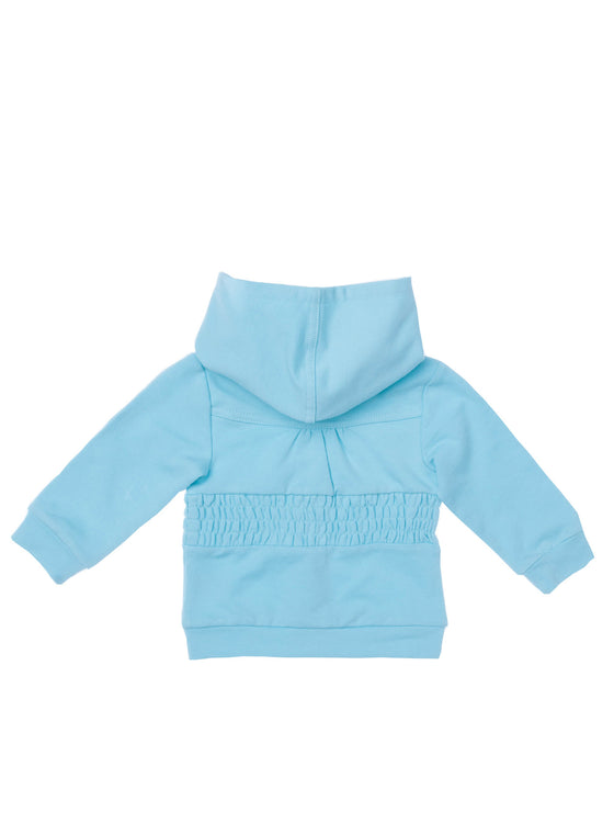 Baby Girls french terry long sleeve zip front hoodie