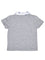 Boys Grey Mix slub jersey short sleeve polo short with print & applique