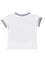 Boys White slub jersey short sleeve t-shirt with front print & pocket