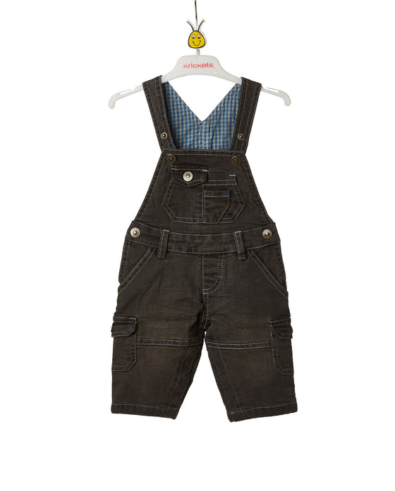 Baby Boys Stretch Denim Overall