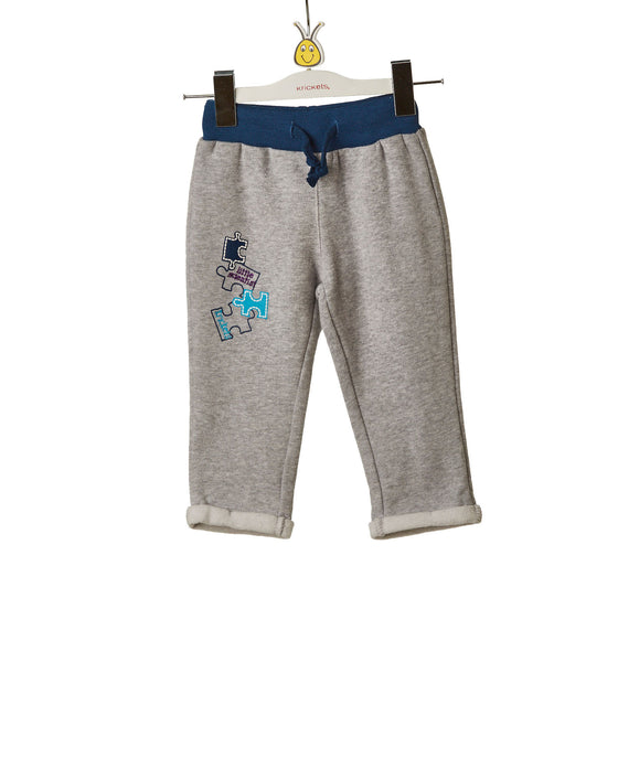 Boys Grey Sweatpants with Drawstring