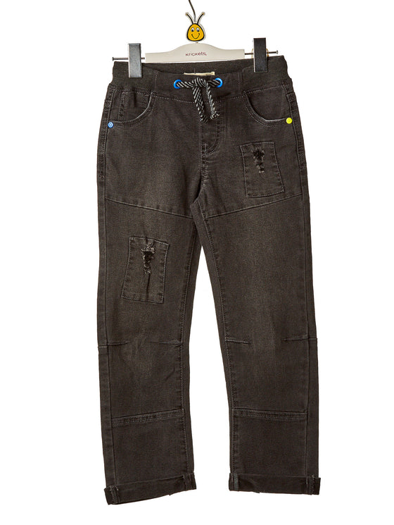 Boys Denim Stretch Pants