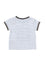 Boys Olive/White Stripe jersey short sleeve t-shirt with front print & pocket