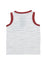 Boys Olive/white Stripe jersey tank with faux placket & front pocket