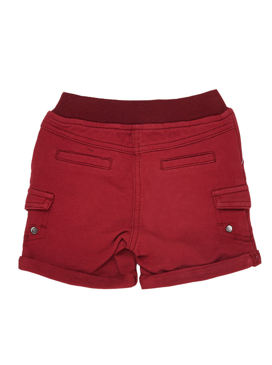 Boys Apple french terry short with patch pockets