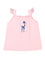 Girls Cotton Candy slub jersey tunic tank with front print