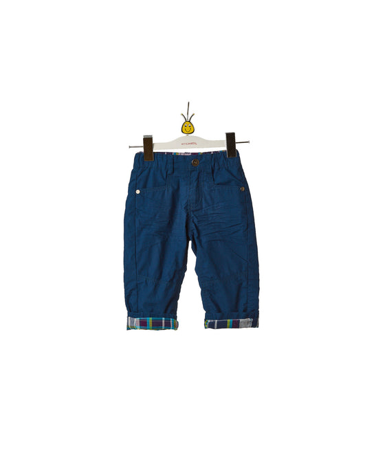 Boys Blue Straight Leg Pant