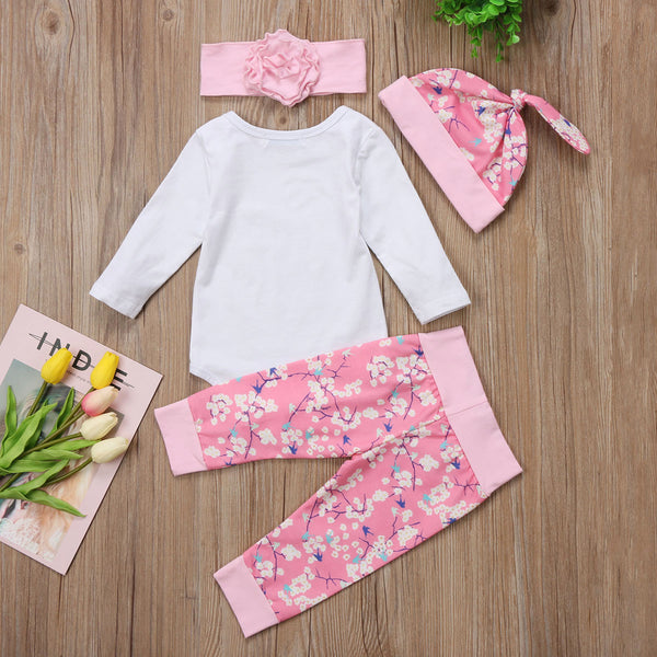 Hello World Pink Floral Set