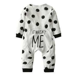 It Wasn't Me Polka Dot Romper