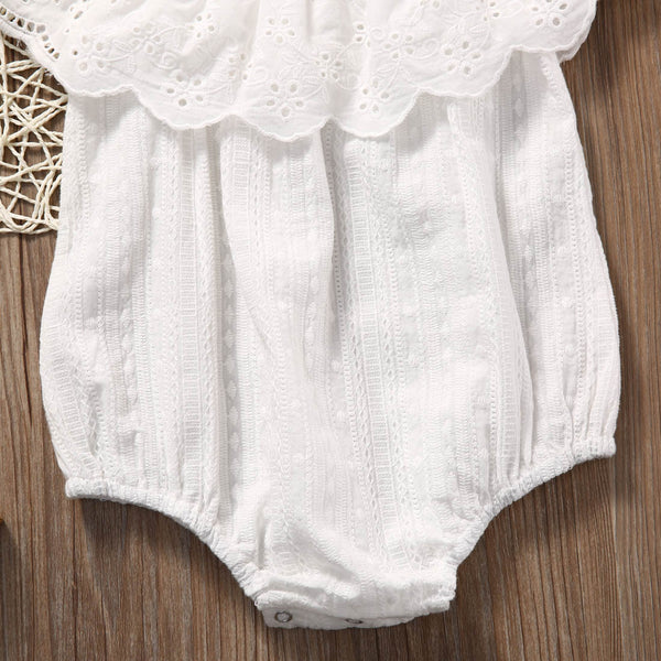 White Pattern Bodysuit
