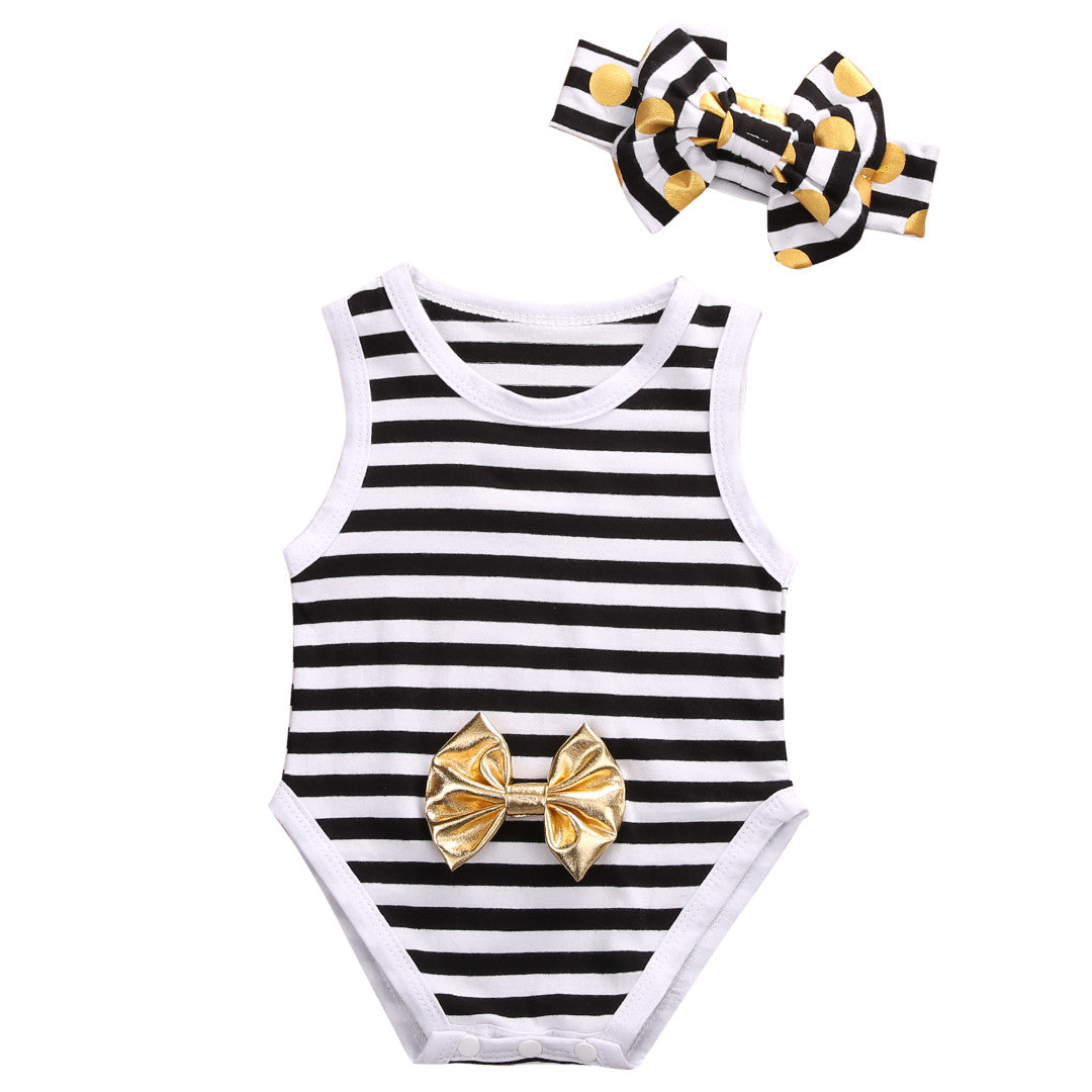 Bow Striped Set