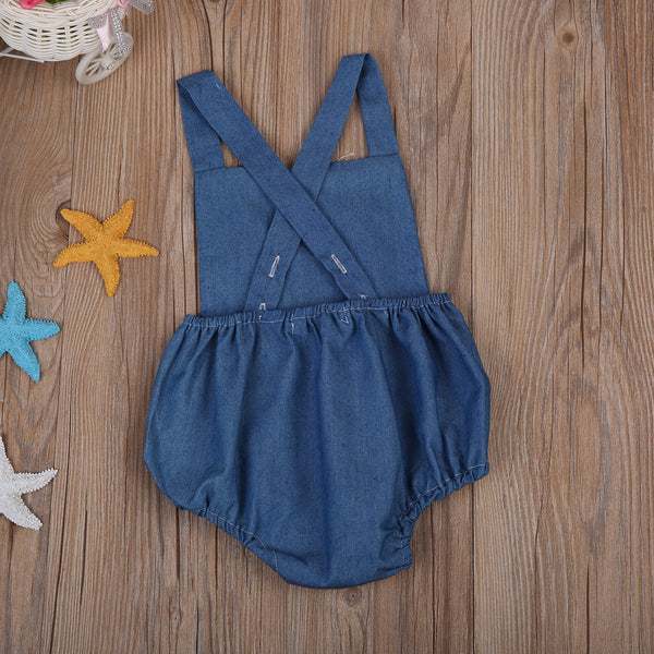 Denim Tassel Bodysuit