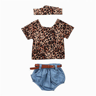 Denim Leopard Set