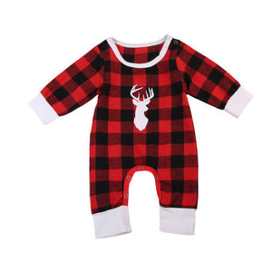 Deer Plaid Romper
