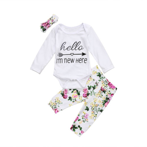 Hello I'm New Here Floral Set