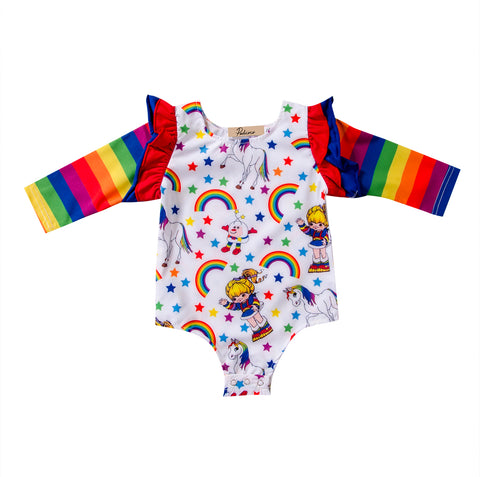 Rainbow Striped Bodysuit