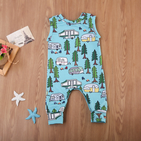 Cartoons Forest Romper