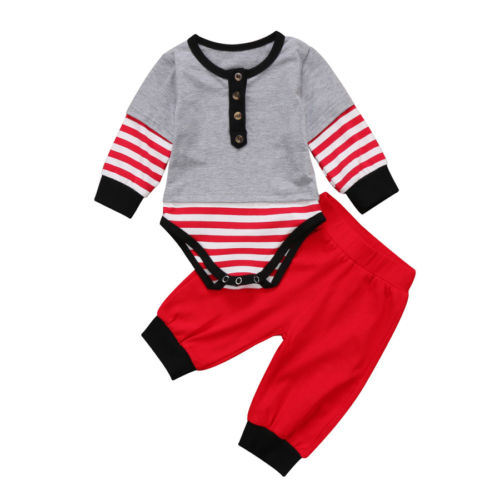 Mark Red Striped Set