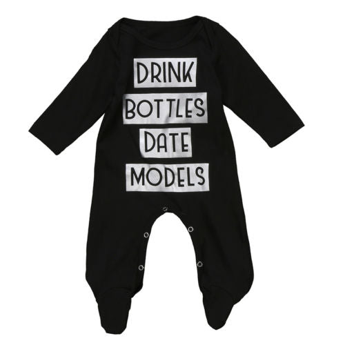 Drink Bottles Date Models Romper