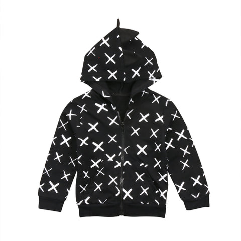X-marked Hoodie Coat