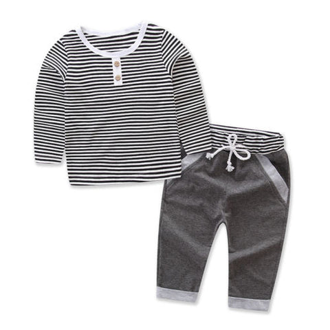 Striped Gray Set
