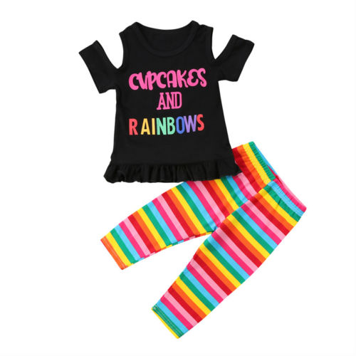 Cupcakes and Rainbow Set