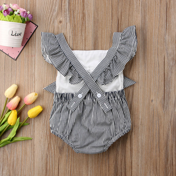 Flying Striped Ribbon Bodysuit