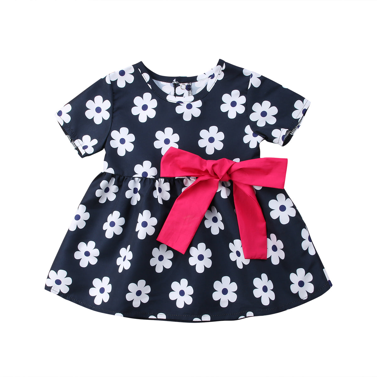 Bowknot Floral Ribbon Dress