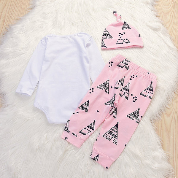 Hello World Pink Triangle Set