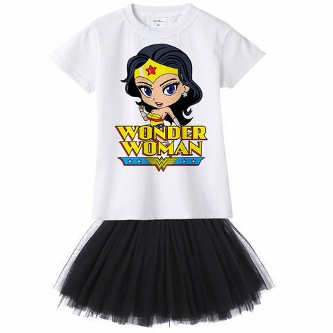 Wonder Woman Cartoon Tutu Set