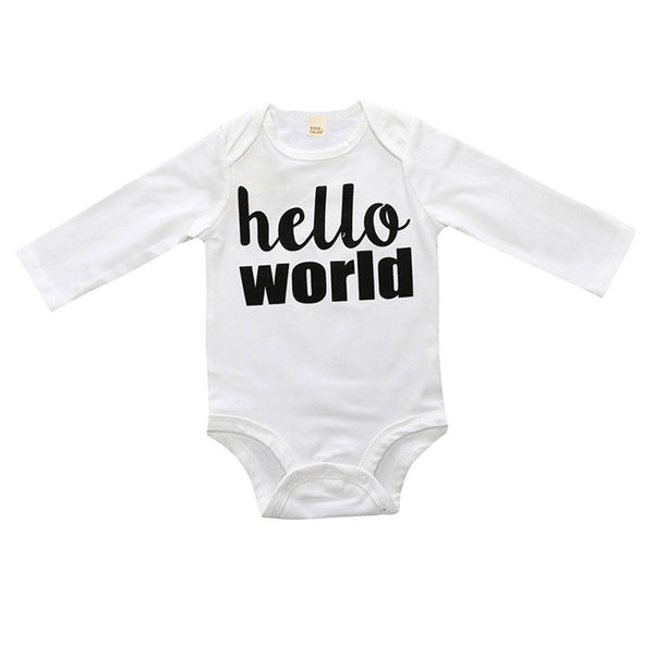 Black and White Geometric Hello World Set