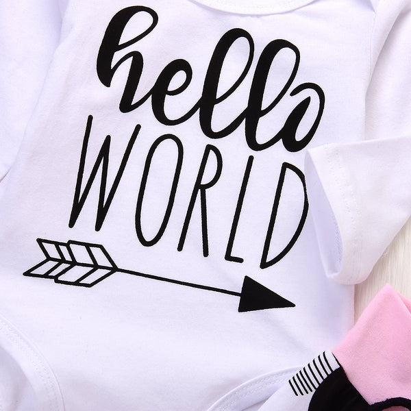 Hello World Pink and Black Set