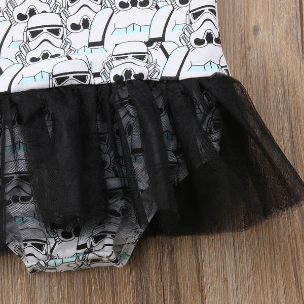 Star Wars Storm Trooper Print Bodysuit Dress
