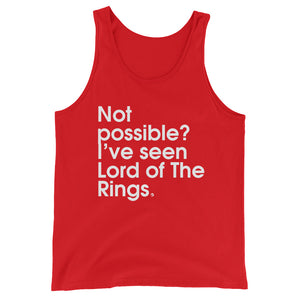 Not Possible? I've Seen Lord Of The Rings. - Green Screen Apparel Tank Top