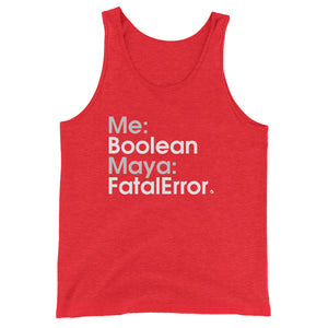 Me:Boolean Maya:FatalError - Green Screen Apparel Tank Top