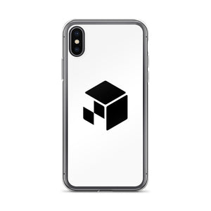 Green Screen Apparel Logo Voxel - iPhone Case (White)
