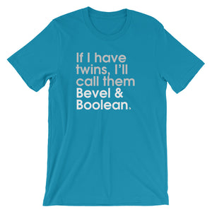 If I Have Twins, I'll Call Them Bevel & Boolean - Green Screen Apparel T-Shirt