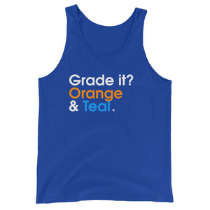 Grade It? Orange & Teal - Green Screen Apparel Tank Top